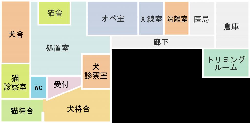 病院平面図
